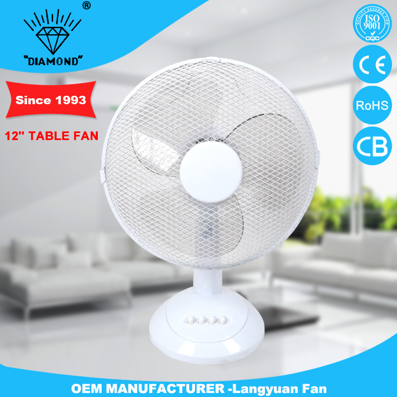 12'' table fan specifications with strong wind