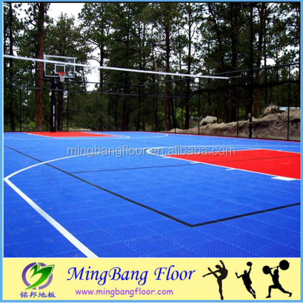 hot sale 2016 safety pp plastic basketball court outdoor flooring