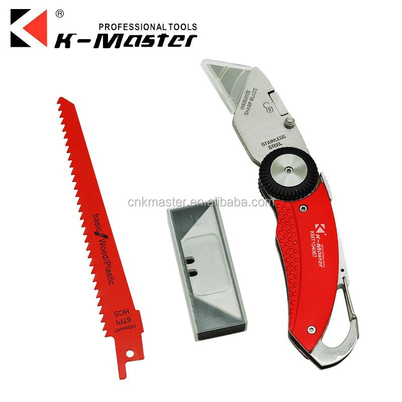 K-Master multifunction aluminum alloy folding utility <strong>knife</strong> paper <strong>knife</strong>