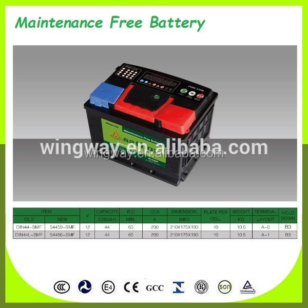 12V60AH 55D26R(N60MF) Calcium Sealed Maintenance Free MF Automobile Car Battery for Starting.