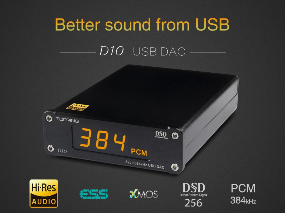 HIFI Decoder Amplifier TOPPING D10 MINI USB DAC CSS XMOS XU208 ES9018K2M OPA2134 Audio Amplifier Decoder