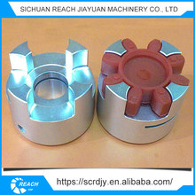 Aluminum shaft coupling flexible rubber