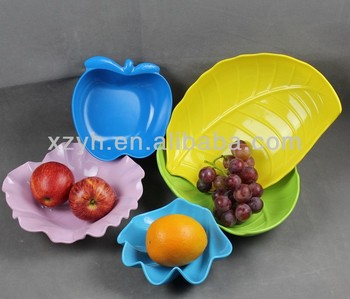 colorful melmine fruit shaped bowl/plate