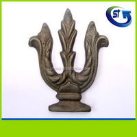 Bottom price promotional wrought iron rosette forged cast