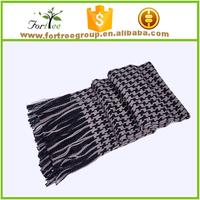 fashion warm cashmere spinning plain knit men scarf