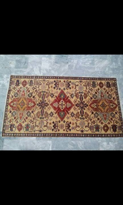 handmade carpet Kazak design