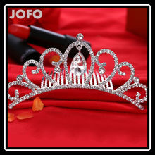 2017 European Luxury Princess Style Bride Wedding Hair Accessories Wedding Crown Rhinestone Tiara Comb Pageant Crowns