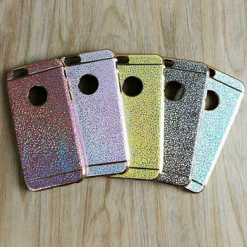 2017 new arrival electroplate TPU Colorful full mobile case for iphone7plus TPU&PC