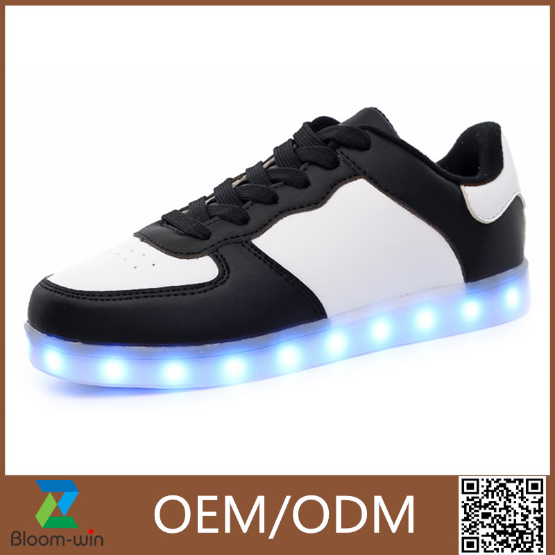 2017 New Style Colorful Running Sport Shoes Women and Men Led Light Up Dance Shoes