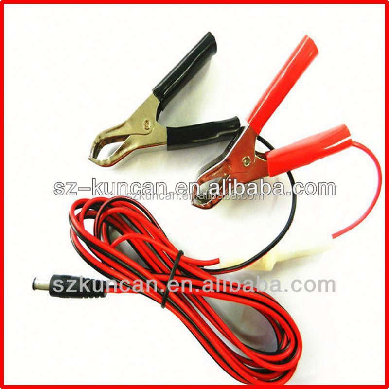 Shenzhen Kuncan New Power Cable for Leica total station 5-pin (0B) wire to Alligator clips
