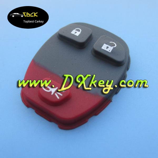 2+1 button car key pad silicone rubber car key covers for GM