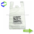 Biodegradable HDPE Material T-shirt Plastic Bag
