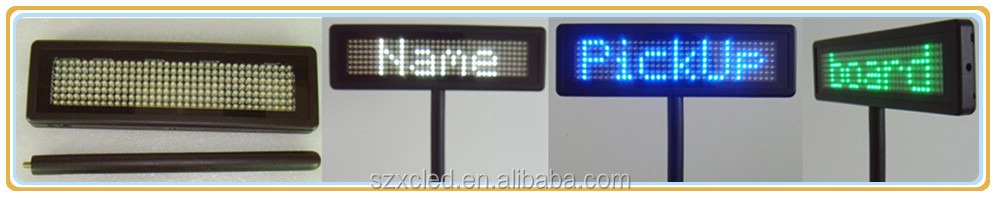 P4.75-8*48, handheld paging board/display/sign  High Brightness Yellow LED Placard for airport pickup