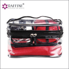 Optimised design hot red shining fashion PVC Makeup Bag Sets