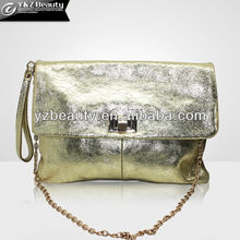 High Fashion Hot Sale Design Girl Gold Tone Leather Lady Bling Shoulder Bag