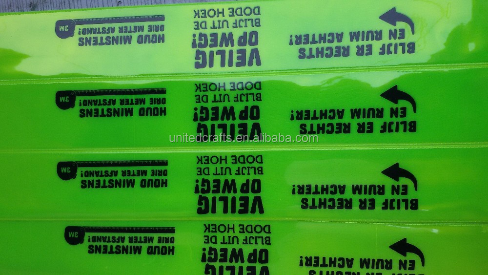 Promotional Custom Logo Reflex Slap Wrap