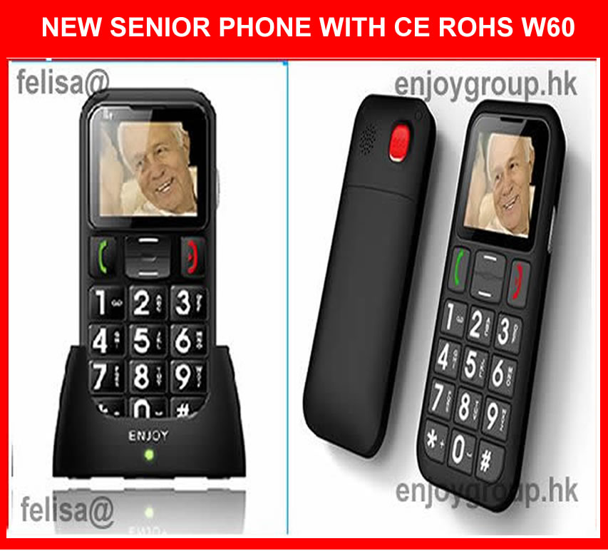 dual sim sos button elderly cell phone with desktop charger