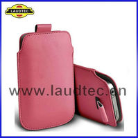 Pull Tab Pouch Leather Cover Case For LG Optimus L7 P700 P705,Laudtec