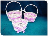 SET OF 3 WILLOW &WOODCHIP BASKET, cheap wicker baskets, cheap wooden fruit crates for sale