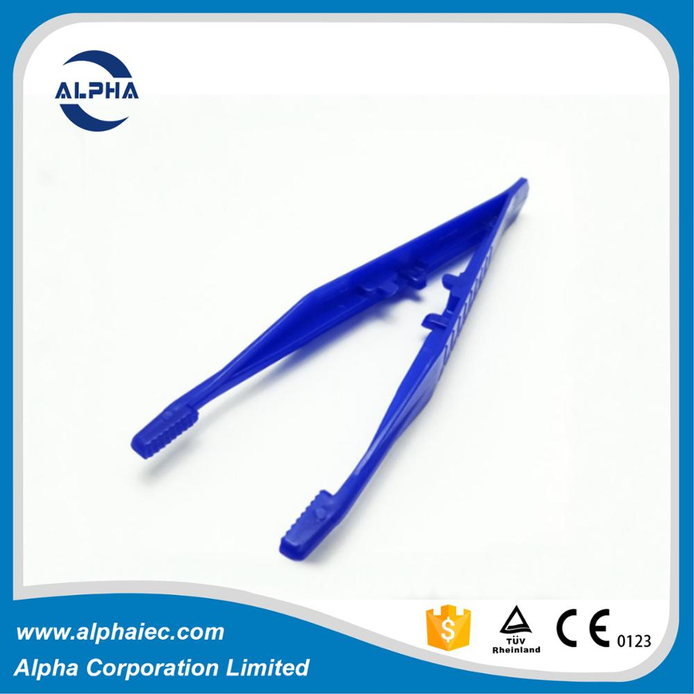 medical disposable plastic forceps medical tweezers