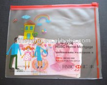 Custom colored printing clear plastic slide medicine eco friendly pvc waterproof zip lock bag