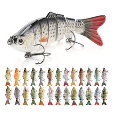 Artificial 10cm 17.5g pike / mass realistic hard 6 segmented fish lure , multi-jointed <strong>fishing</strong> lures swim <strong>bait</strong>