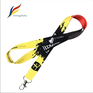 Flat Polyester Key Neck Strap Cheap ID Card Badge Holder Custom Sublimation Printed Promotion Lanyard