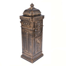 Factory Direct Supply Lion Ornament Bronze Waterproof Casting Aluminum Mail Box