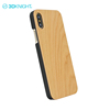Real cherry wood blank wooden mobile covers for iphone X hardcase cell phone case in wood