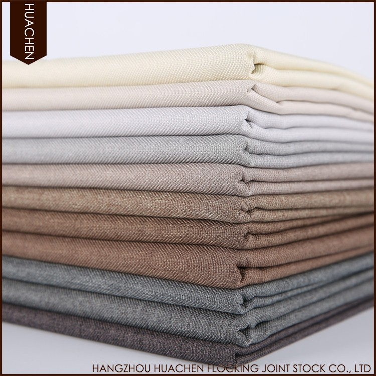 Hot selling cheap custom plain dyed blackout curtain fabric