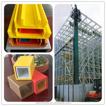 plastic fiberglass structural frp pultruded profile part of cooling tower shape