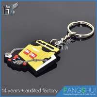 Cheap custom promotional 3d cute pvc keyring
