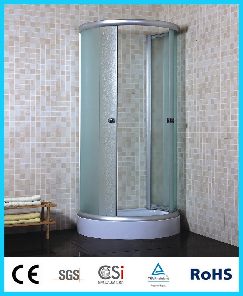 indoor portable shower,Aluminium frame shower enclosure, economic fabric glass shower room S128