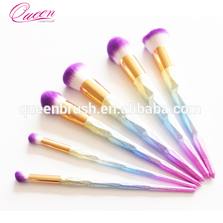 China manufacturer favorable price new design mermaid makeup brushes