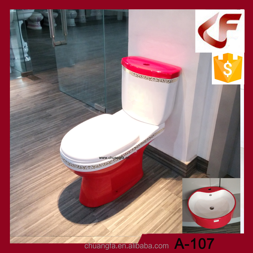 New design custom fancy colored toilet sinks combination