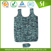 reusable shopping bags foldable/polyester folding shopping bag