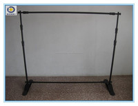 Economic aluminum telescopic backdrop stand , cheap and elegant adjustable banner stand.