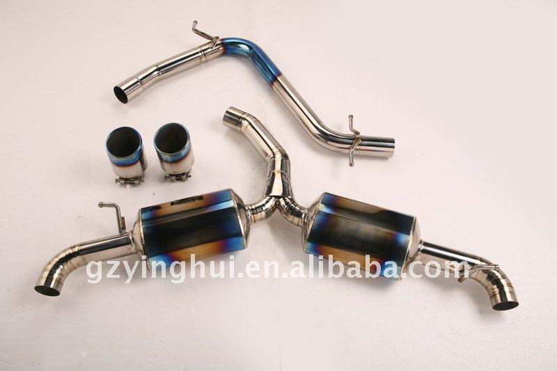 titanium exhaust car catback system for GTI6
