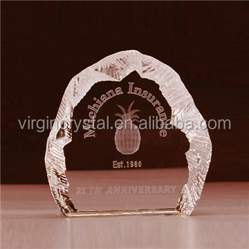 Wholesale 3d laser glass crystal iceberg