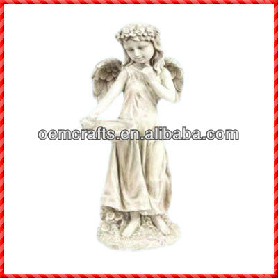 2013 New Decorative Fairy Statue Wholesale Bird Water Drinkers