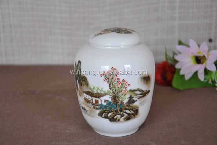 Hot Sale Chinese style ceramic tea caddy