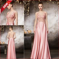 Coniefox 82122 Custom Party Girl Dress Floor-length Pink Wedding Dress