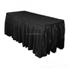 21' Spun polyester table skirt in a very competitive price-black skirt