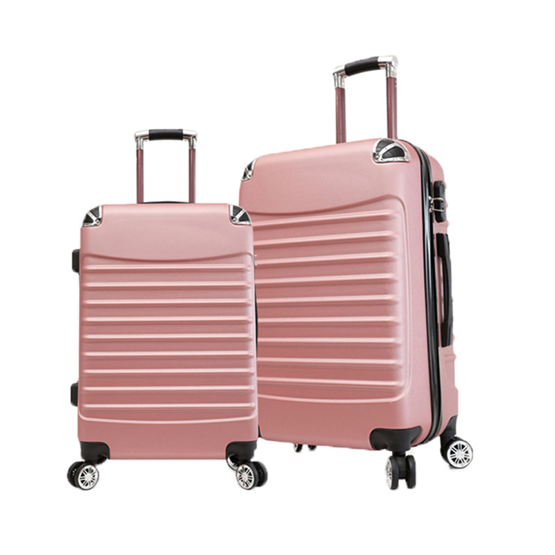 factory custom unisex luggage trolley bags <strong>ABS</strong> traveling 4 wheels trolley school case luggage on suitcase