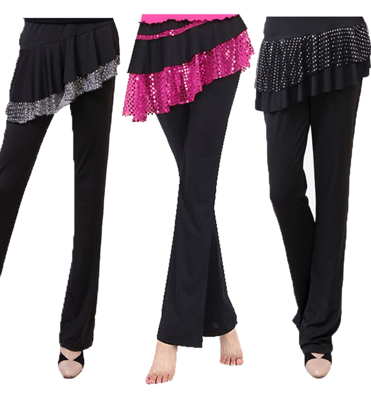 Free Shipping women's culottes dance clothes pant Cotton Spandex Latin Belly dance culottes dance clothes women's pants
