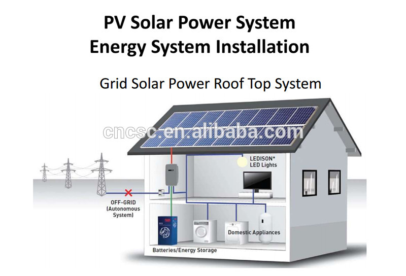 Home Solar Energy System 5KW 10KW Home Solar Power System
