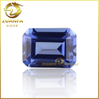tanzanite octagon cut lab created gemstones for shoes