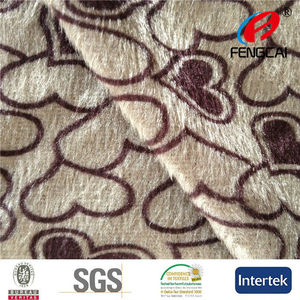 2015 Hot Design Transfer Paper Animal Print Polyester Velboa Fabric for Toys and Sofa