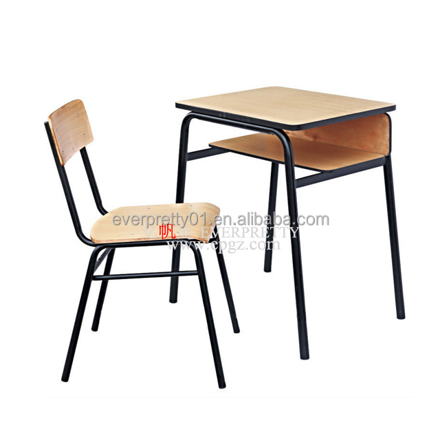 Cheap Standard Classroom Single Desk and Chair School Furniture Guangzhou Suppliers