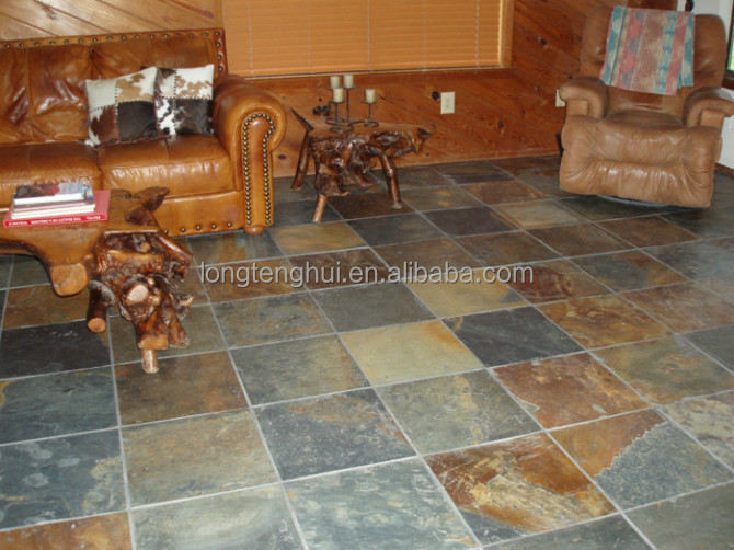 Natural slate stone tile split decorative stone tiles floor decoration